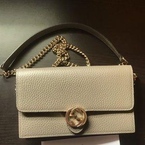 Gucci interlocking GG wallet on chain crossbody
